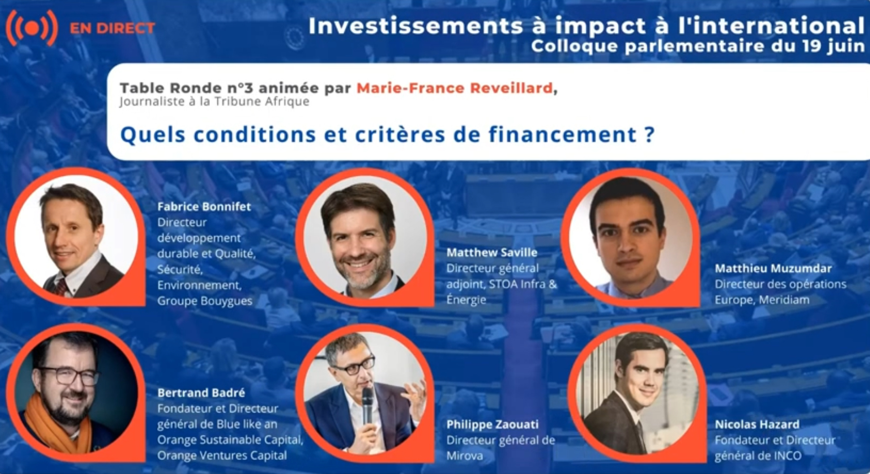 Volet 3 du Colloque sur les investissements inclusifs et à impacts à l'international