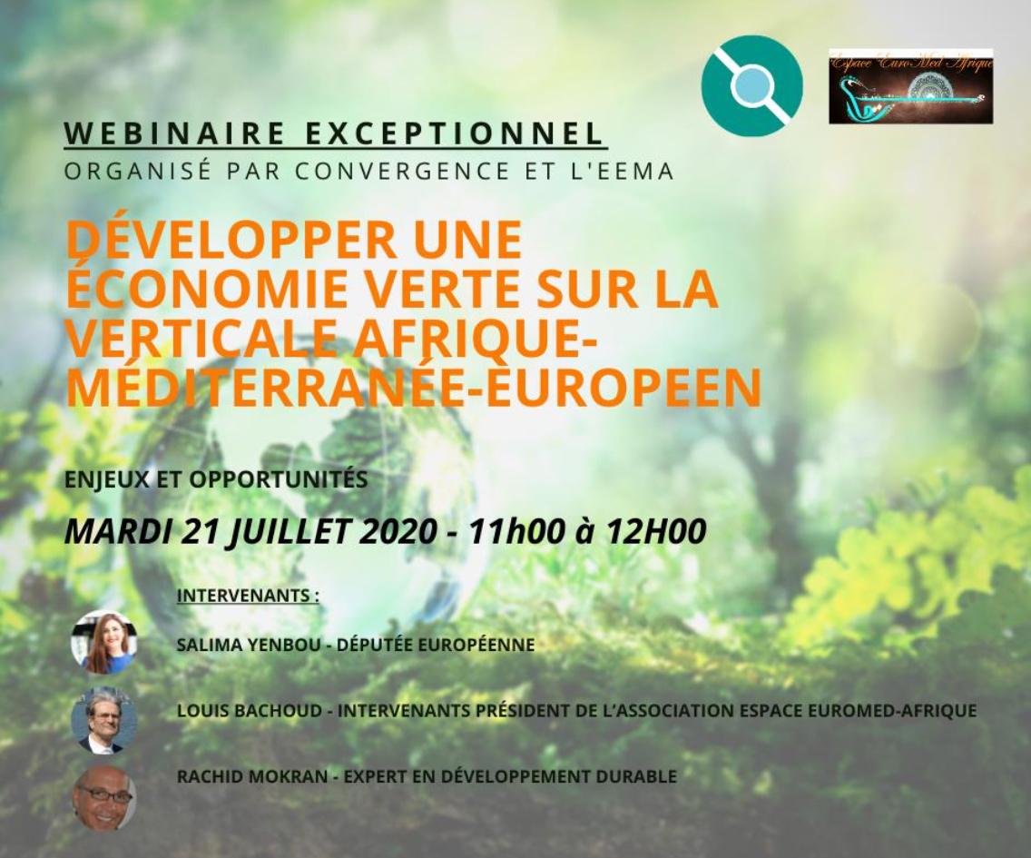 Développer une économie verte sur la verticale Afrique-Méditerranée-Europe
