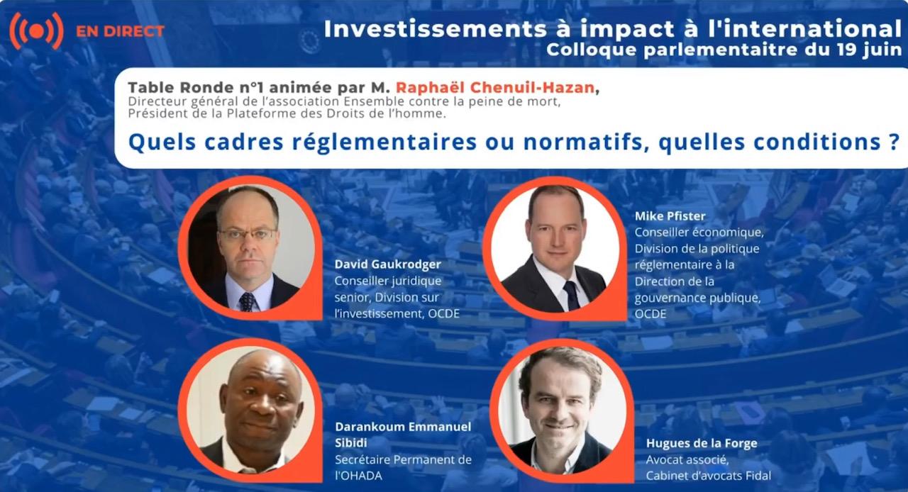 Volet 1 du Colloque sur les investissements inclusifs et à impacts à l'international