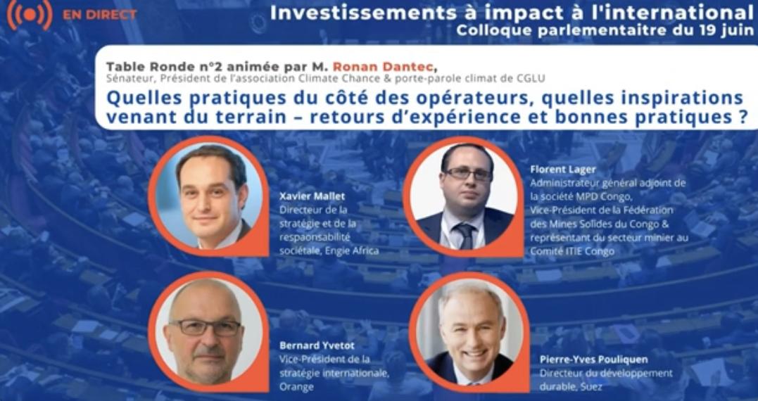 Volet 2 du Colloque sur les investissements inclusifs et à impacts à l'international