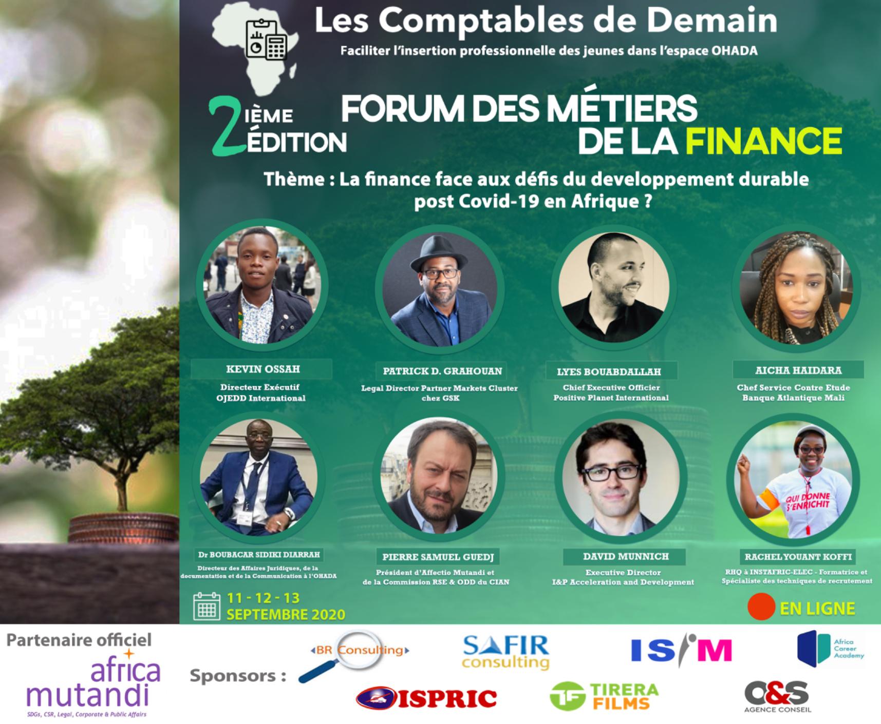 Forum 2020 des comptables de demain : La Finance face aux défis du développement durable post Covid-19 en Afrique ?