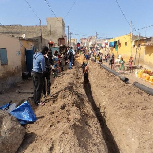 Plus de 22 000 personnes raccordées au réseau d'assainissement à Saint-Louis du Sénégal.
