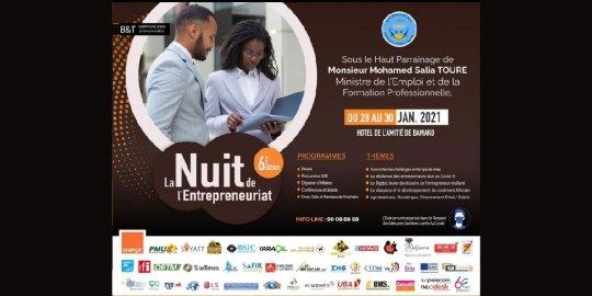 Agenda Bamako, 28 au 30/01 – La VIe « Nuit de l'Entrepreneuriat » veut ouvrir de nouvelles perspectives à l'économie du Mali