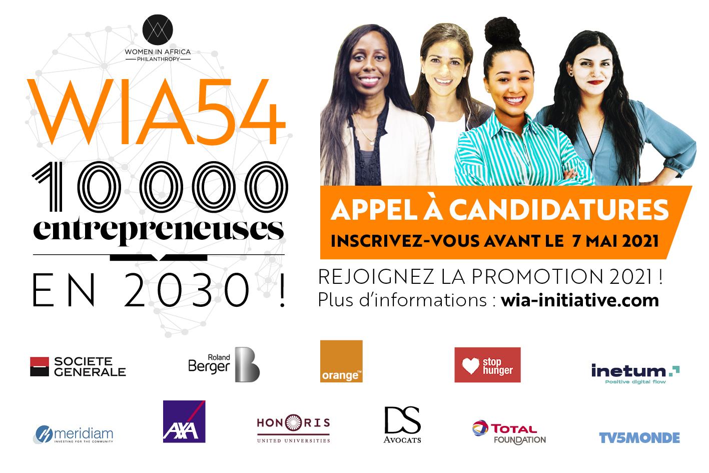 Rejoignez le programme WIA 54 Édition 2021 pour les entrepreneuses africaines !