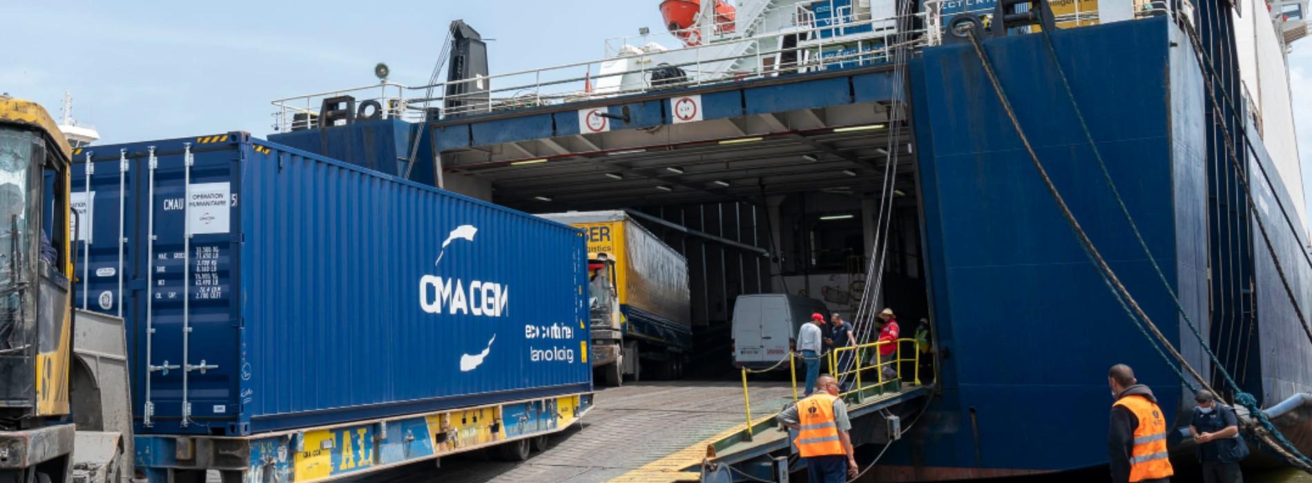 CMA CGM achemine à titre gracieux 55 tonnes de matériel médical pour faire face à la pandémie de COVID-19 en Tunisie