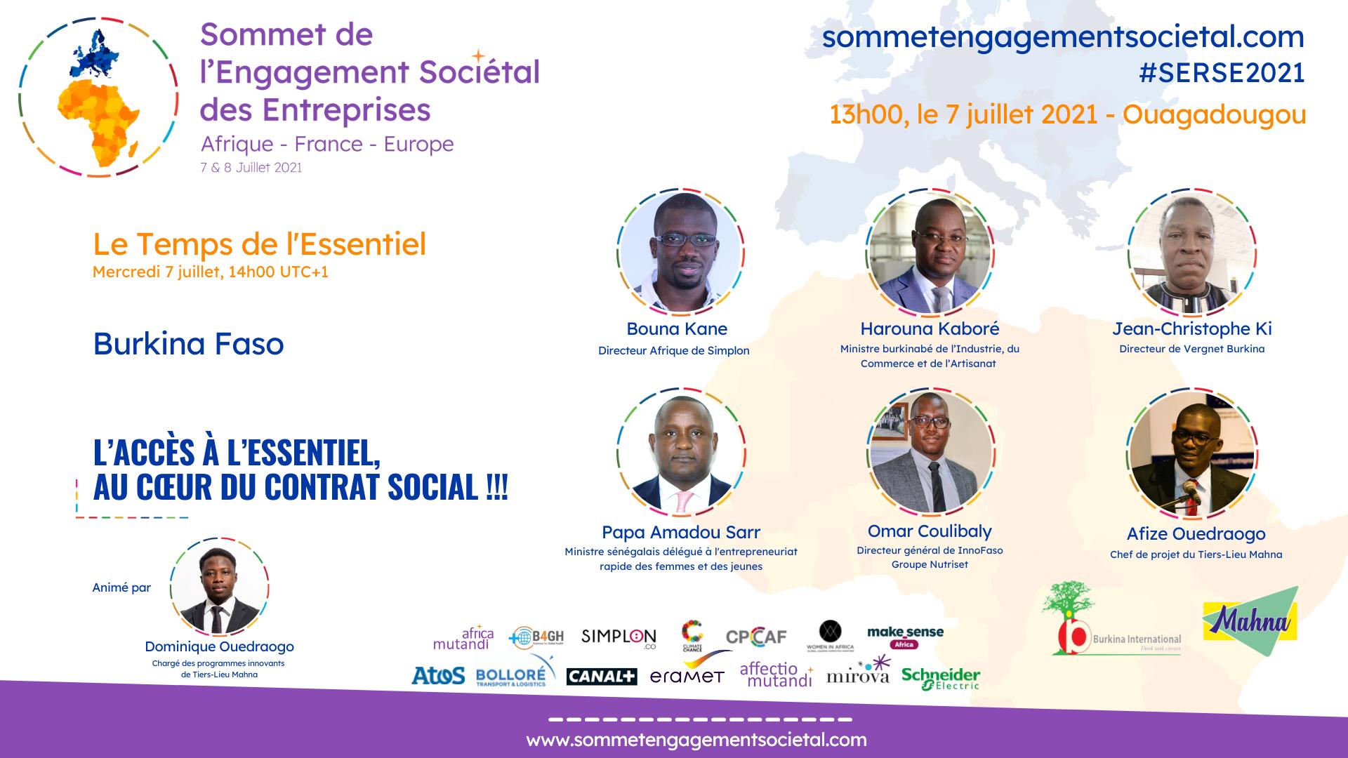 """Le Burkina Faso accueille le panel """"Le Temps de l'Essentiel"""""""