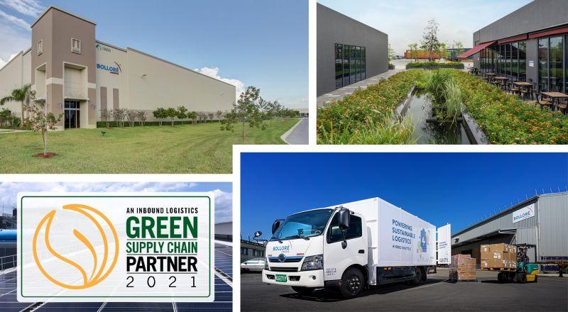 """Le magazine Inbound Logistics a désigné le groupe Bolloré comme """"Green supply chain partner"""""""