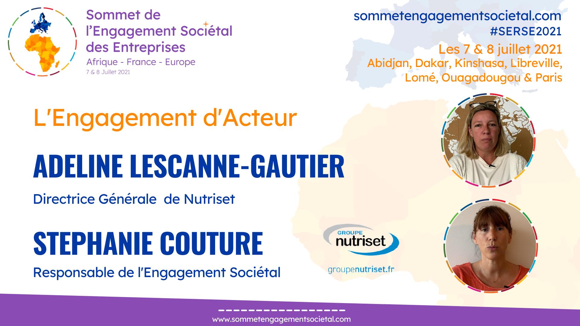 Adeline Lescanne-Gautier et Stéphanie Couture, l'Engagement d'™Acteur, Nutriset