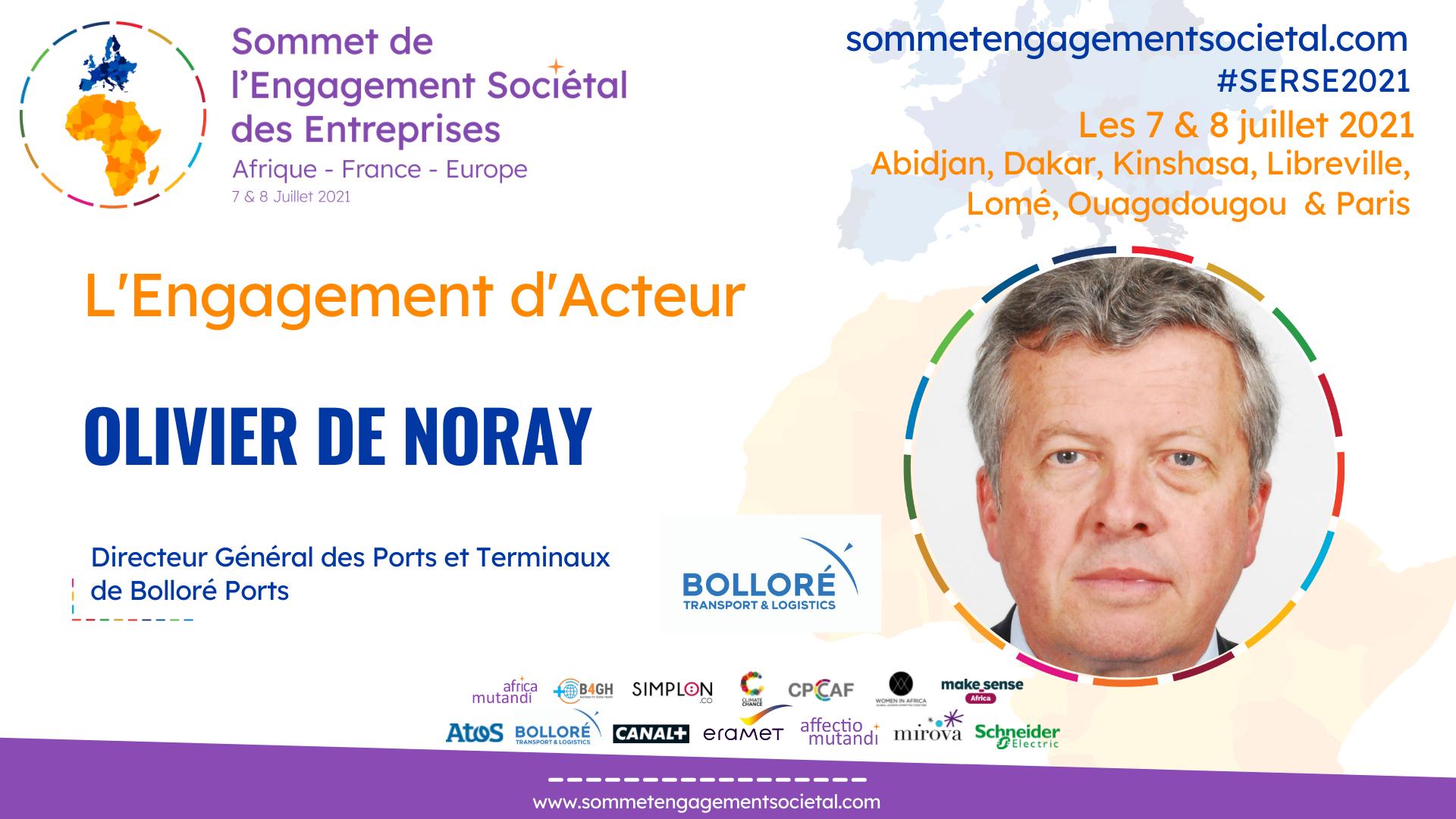 Olivier de Noray présente le label Green Terminal de Bolloré Ports