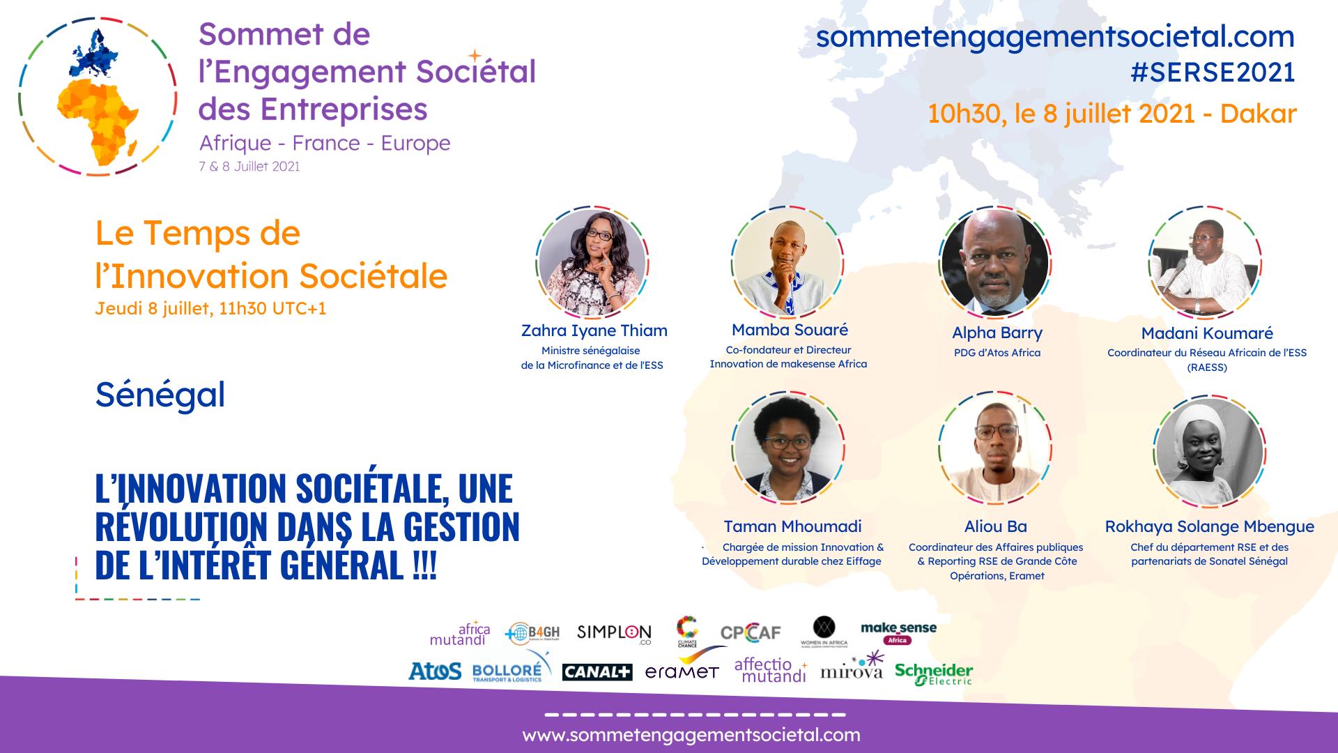 """Le Sénégal accueille le panel """"Le Temps de l'Innovation Sociétale"""""""