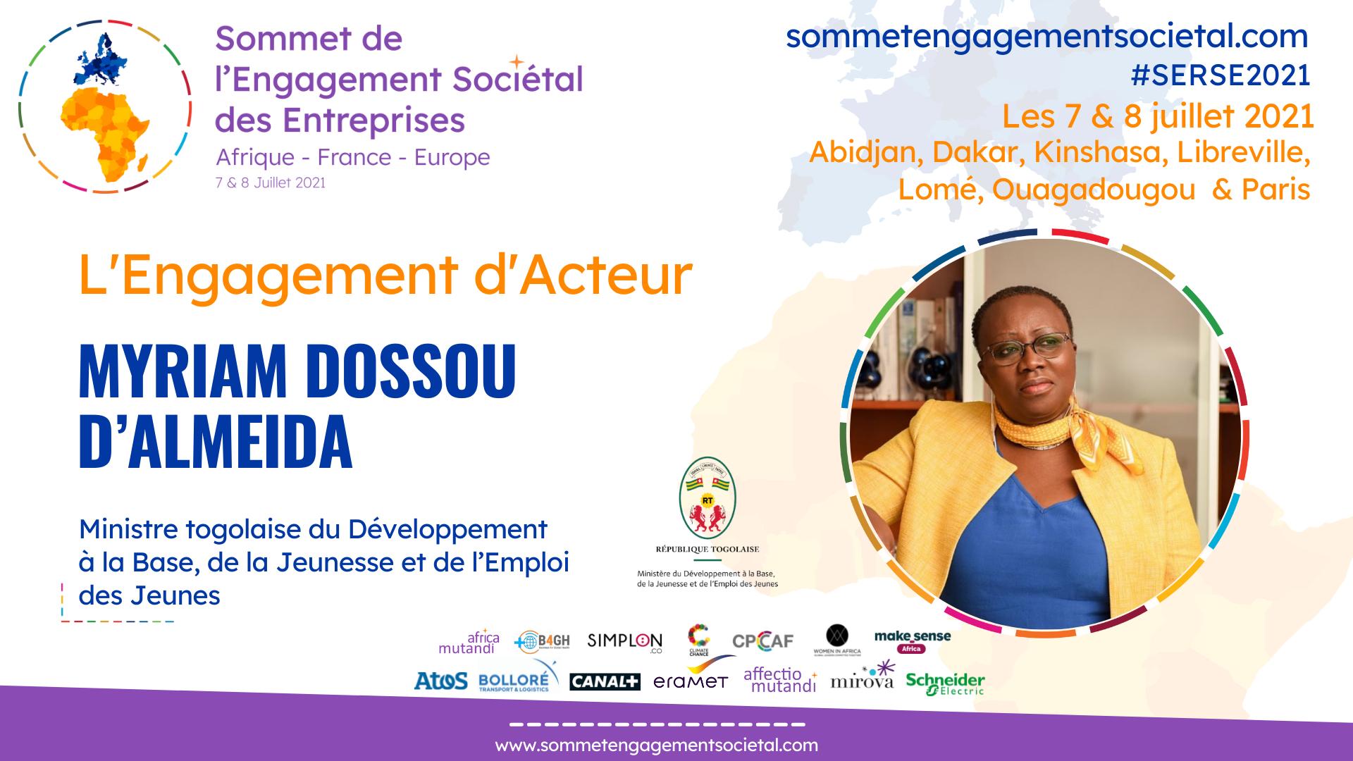 Myriam Dossou d'Almeida appelle à plus de confiance entre les acteurs pour plus d'impact dans l'atteinte des Objectifs de Développement Durable