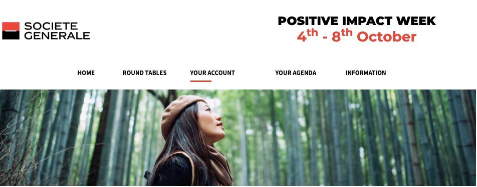 Rendez-vous du 4 au 8 octobre pour la Positive Impact Week de la Société Générale !
