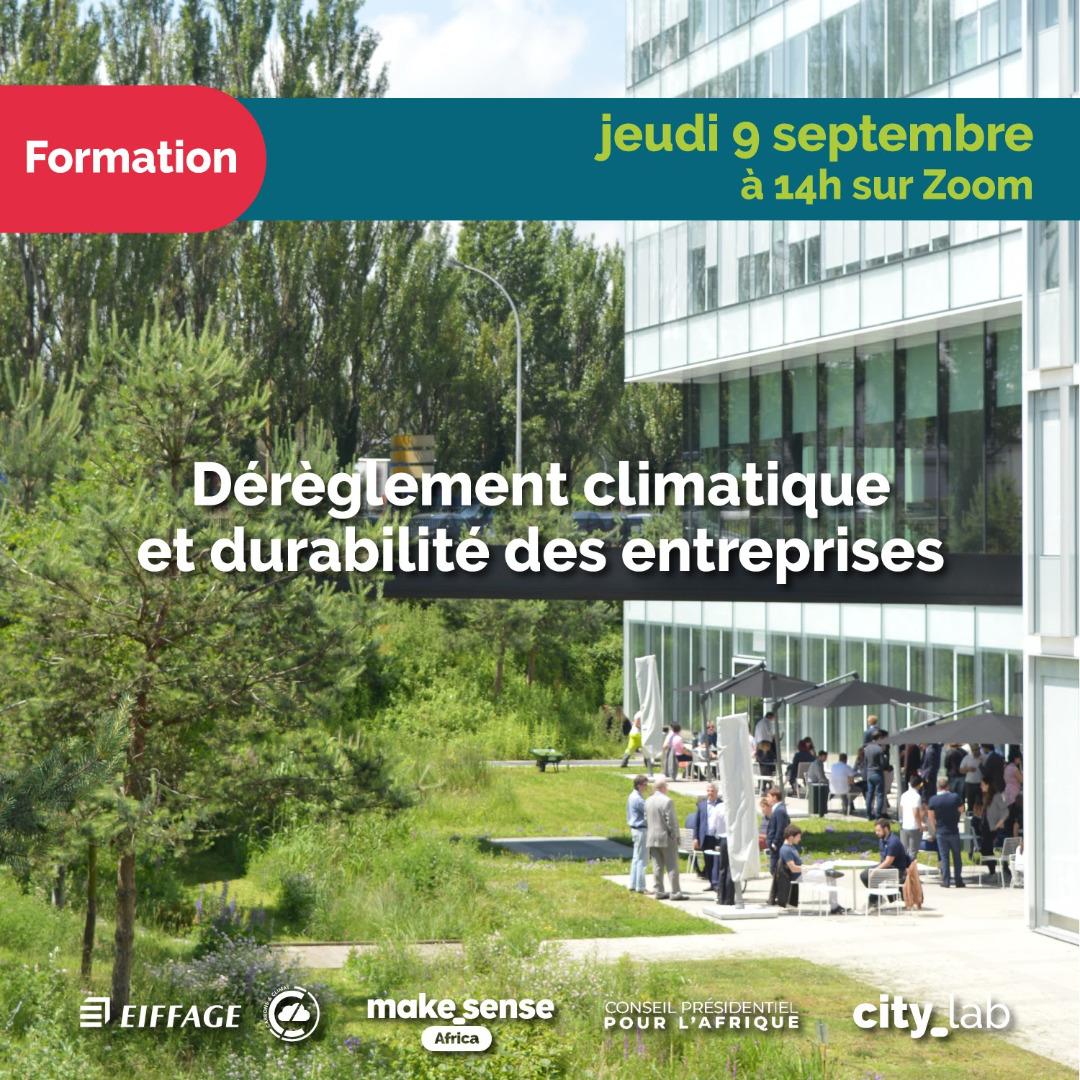 """Formation """"Dérèglement Climatique et Durabilité des entreprises"""" animée par Eiffage Sénégal"""