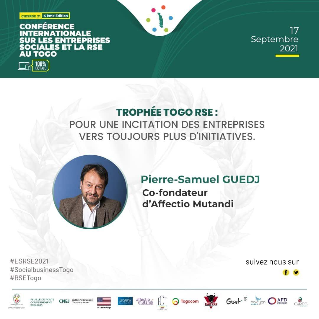 Affectio Mutandi intervient à la 4ème édition de la Conférence internationale sur les entreprises sociales et la RSE au Togo !