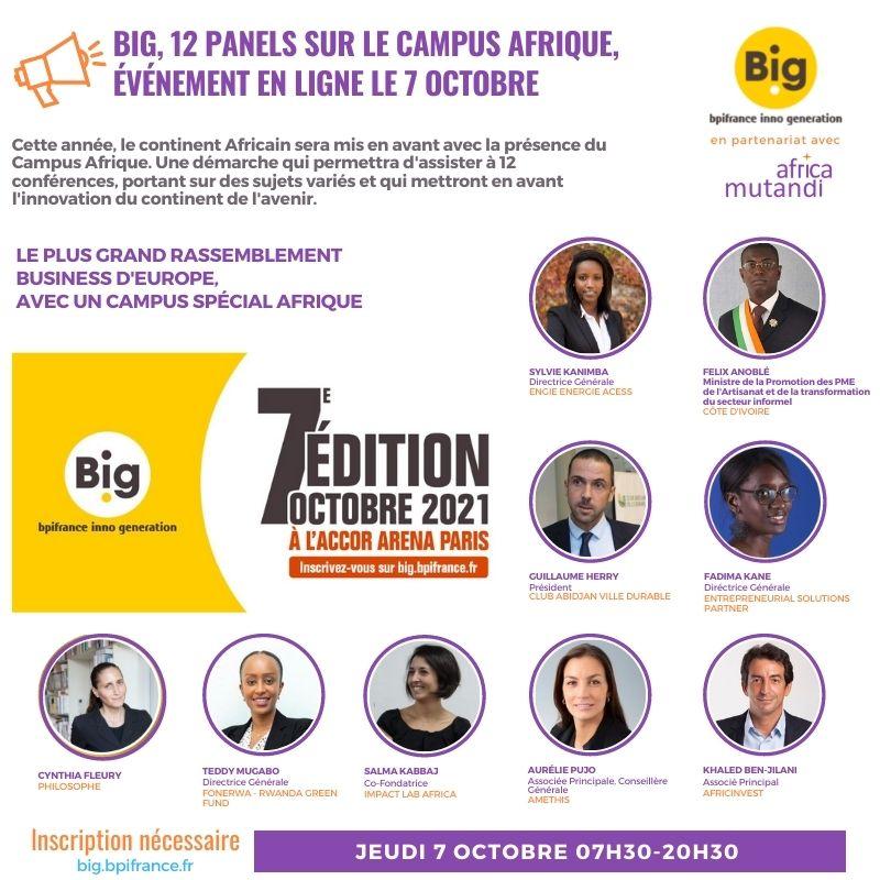 BIG 2021, 12 panels Afrique accessible en ligne le 7 octobre