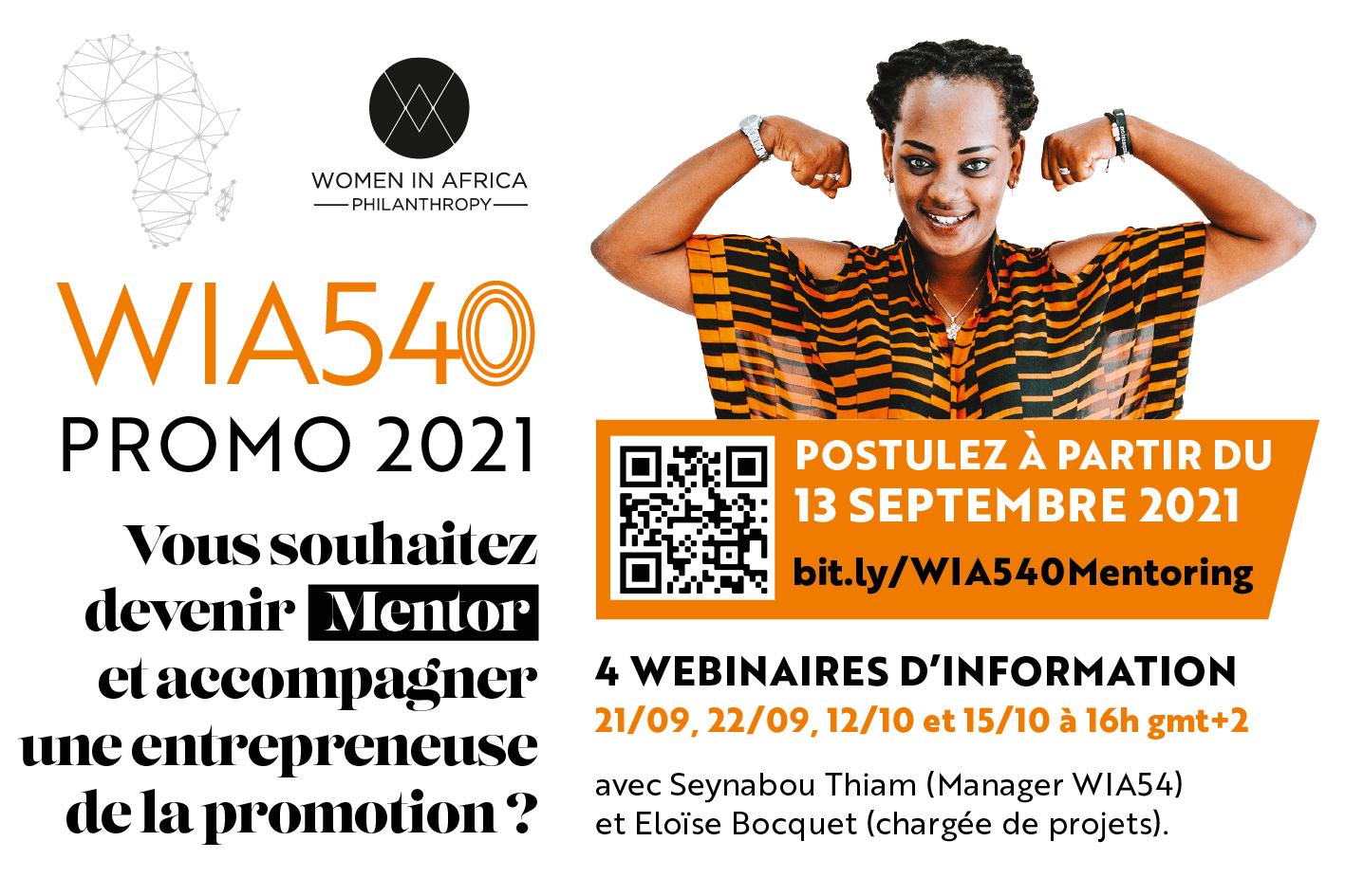 WIA540 Mentoring – Webinaires d'information – Women In Africa